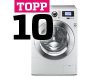 Topp 10 vaskemaskiner
