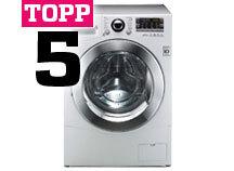 Topp 5 vaskemaskiner