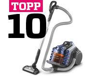 Topp 10 støvsugere